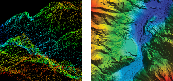LiDAR comparison - low and high density