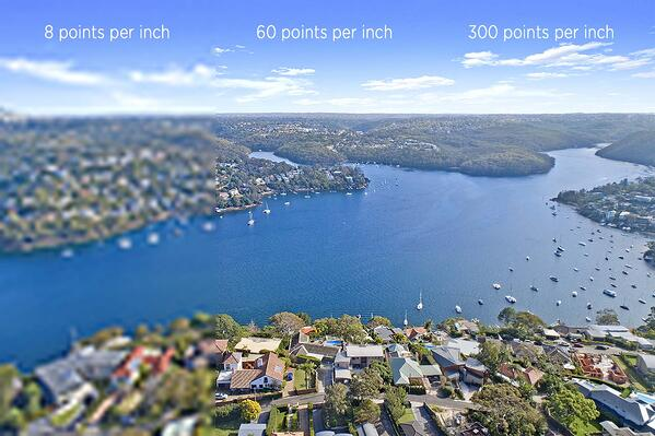 Sailors Bay NSW - illustrating resolution difference